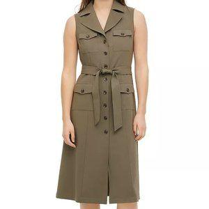 Calvin Klein Collared Button Up Career Work Dress
